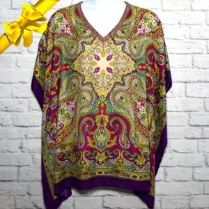 Chico's Embellished Poncho Blouse #k8f06p01p11p1